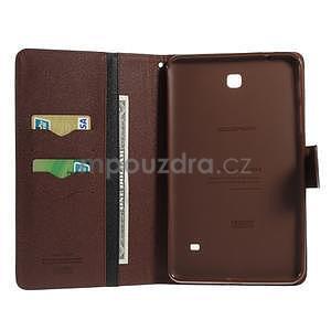 Černé/hnědé peněženkové pouzdro Goospery na tablet Samsung Galaxy Tab 4 8.0 - 4