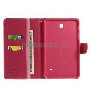 Růžové peněženkové pouzdro Goospery na tablet Samsung Galaxy Tab 4 8.0 - 4