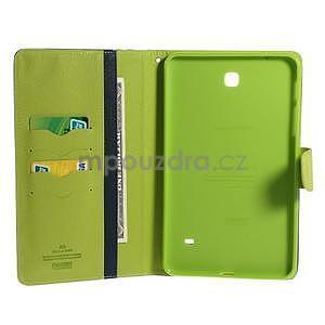 Modré peněženkové pouzdro Goospery na tablet Samsung Galaxy Tab 4 8.0 - 4
