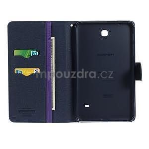 Fialové peněženkové pouzdro Goospery na tablet Samsung Galaxy Tab 4 8.0 - 4