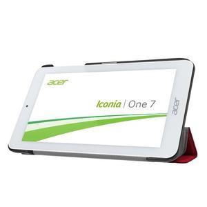 Trifold polohovatelné pouzdro na tablet Acer Iconia One 7 B1-770 - červené - 4