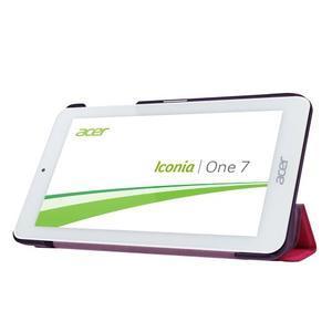 Trifold polohovatelné pouzdro na tablet Acer Iconia One 7 B1-770 - rose - 4
