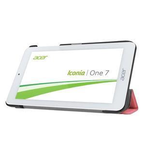 Trifold polohovatelné pouzdro na tablet Acer Iconia One 7 B1-770 - růžové - 4