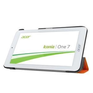 Trifold polohovatelné pouzdro na tablet Acer Iconia One 7 B1-770 - oranžové - 4