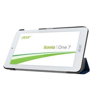 Trifold polohovatelné pouzdro na tablet Acer Iconia One 7 B1-770 - tmavěmodré - 4