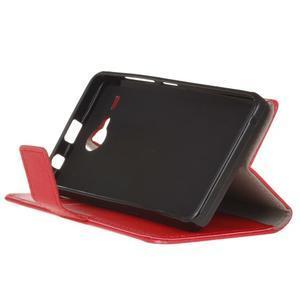 Gregory peněženkové pouzdro na Acer Liquid Z520 - červené - 4