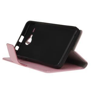 Gregory peněženkové pouzdro na Acer Liquid Z520 - růžové - 4