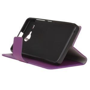 Gregory peněženkové pouzdro na Acer Liquid Z520 - fialové - 4
