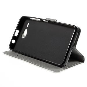 Nice koženkové pouzdro na mobil Acer Liquid Z520 - zebra - 4