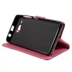 Nice koženkové pouzdro na mobil Acer Liquid Z520 - geo tvary - 4