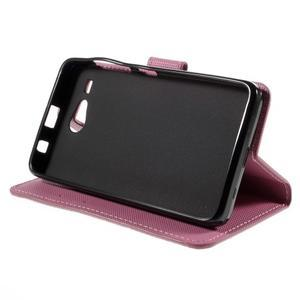 Nice koženkové pouzdro na mobil Acer Liquid Z520 - fialové květy - 4