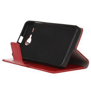 Stanley PU kožené pouzdro na Acer Liquid Z520 - červené - 4