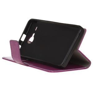 Stanley PU kožené pouzdro na Acer Liquid Z520 - fialové - 4