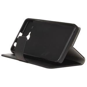 Gregory peněženkové pouzdro na Acer Liquid Z520 - černé - 4