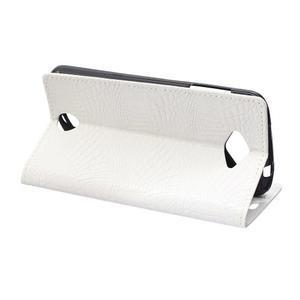 Pouzdro s croco vzorem na Acer Liquid Z530 - bílé - 4