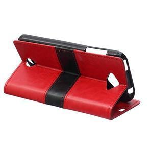 Lines PU kožené pouzdro na Acer Liquid Z530 - červené - 4
