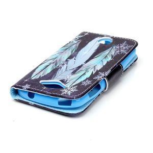 Luxy peněženkové pouzdro na Acer Liquid Z530 - peříčka - 4