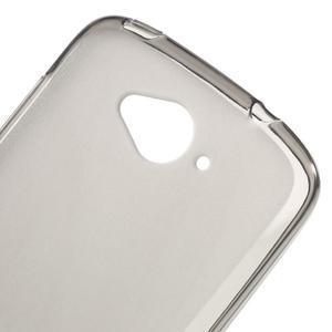 Matný gelový obal na Acer Liquid Z530 - šedý - 4