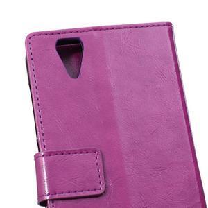 Leat PU kožené pouzdro na mobil Acer Liquid Z630 - fialové - 4