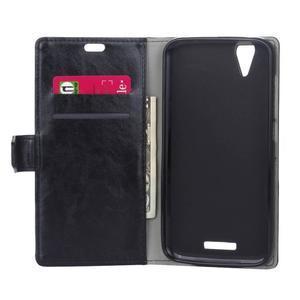 Leat PU kožené pouzdro na mobil Acer Liquid Z630 - černé - 4