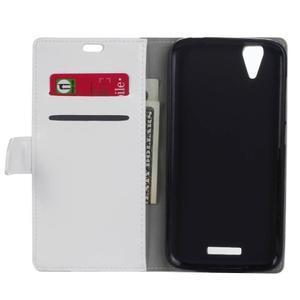 Leat PU kožené pouzdro na mobil Acer Liquid Z630 - bílé - 4