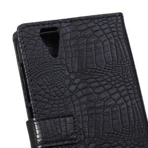 Croco style pouzdro pro Acer Liquid Z630 - černé - 4