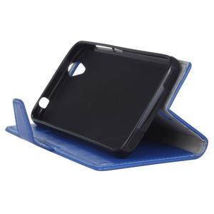Leat PU kožené pouzdro na mobil Acer Liquid Z630 - modré - 4