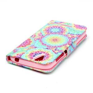 Peněženkové pouzdro na mobil Acer Liquid Z630 - barevné květy - 4