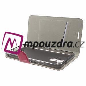Horse PU kožené pouzdro na Asus Zenfone 3 Max ZC520TL - rose - 4