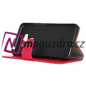 Wall knížkové pouzdro na mobil Asus Zenfone 3 Max ZC553KL - rose - 4