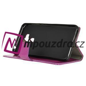 Peněženkové pouzdro na Asus Zenfone 3 Max ZC553KL - fialové - 4