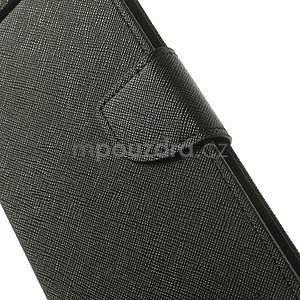 Černé PU kožené pouzdro Asus Zenfone 5 - 4