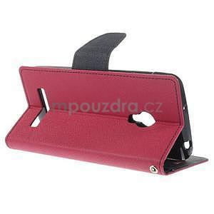 Rose/tmavě modré peněženkové pouzdro na Asus Zenfone 5 - 4