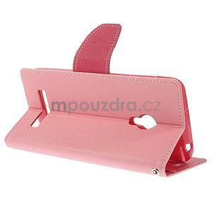 Růžové/rose peněženkové pouzdro na Asus Zenfone 5 - 4