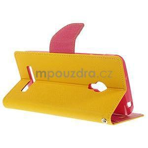 Žluté/rose peněženkové pouzdro na Asus Zenfone 5 - 4
