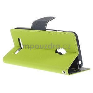 Zelené/tmavě modré peněženkové pouzdro na Asus Zenfone 5 - 4