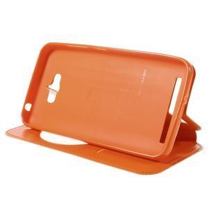 Luxusní pouzdro s okýnkem na mobil Asus Zenfone Max - oranžové - 4