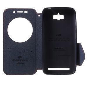 Diary peněženkové pouzdro s okýnkem na Asus Zenfone Max - oranžové - 4