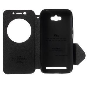 Diary peněženkové pouzdro s okýnkem na Asus Zenfone Max - tmavěmodré - 4