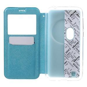 Peněženkové pouzdro s okýnkem na Asus Zenfone Zoom - modré - 4