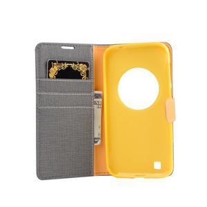 PU kožené pouzdro na Asus Zenfone Zoom - šedé - 4