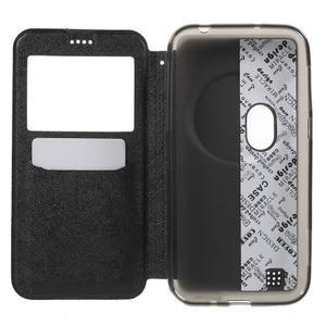 Peněženkové pouzdro s okýnkem na Asus Zenfone Zoom - černé - 4