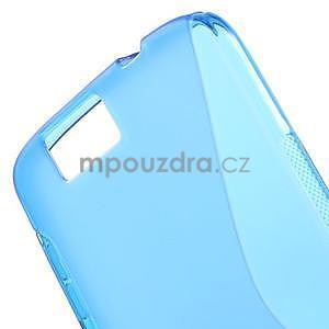 Gelový kryt S-line Huawei Ascend G7 - modrý - 4