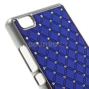 Drahokamový plastový obal na Huawei Ascend P8 Lite - modrý - 4