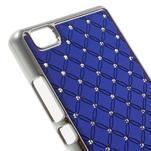 Drahokamový plastový obal na Huawei Ascend P8 Lite - modrý - 4/5