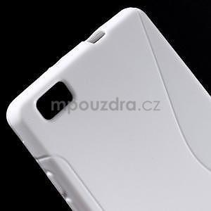 Bílý S-line gelový obal na Huawei Ascend P8 Lite - 4