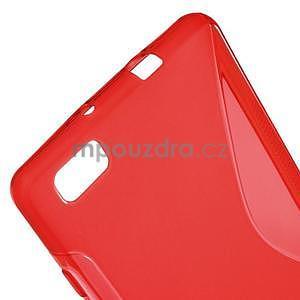 Červený S-line gelový obal na Huawei Ascend P8 Lite - 4