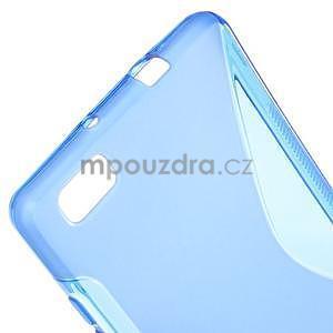 Modrý S-line gelový obal na Huawei Ascend P8 Lite - 4