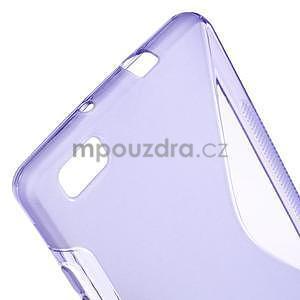 Fialový S-line gelový obal na Huawei Ascend P8 Lite - 4