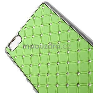 Drahokamový plastový obal na Huawei Ascend P8 Lite - zelený - 4